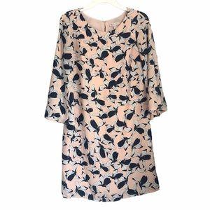 Lila Rose floral bell sleeve shift dress size 2